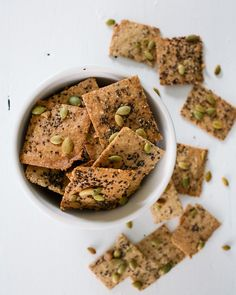 Almond Cashew Crackers | A Couple Cooks