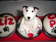 Cupcakes Mascota #bullterrier