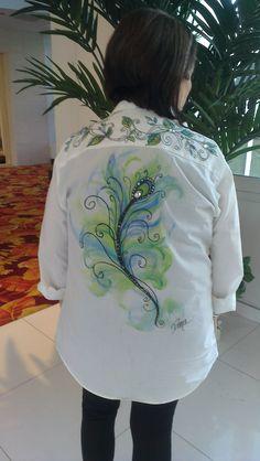 Back pattern. Peacock packet. WW.onestroke.com
