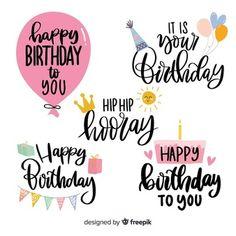Birthday Vectors, Photos and PSD files Birthday Letters, Diy Birthday, Birthday Quotes, Birthday Icon, Birthday Gifts, Happy Birthday Printable, Happy Birthday Cards, Happy Birthdays, Happy Birthday Calligraphy