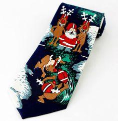 New Ho Ho Ho Santa Claus Mens Necktie St. Nick Christmas Holiday ...