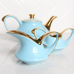 circa 1940 tea set - my mother had this set - I have the cream and sugar - the teapot was broken sadly.