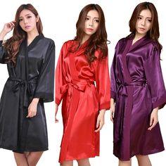 着物のサテンのバスローブの女性レーヨンrb088衣セクシーネグリジェランジェリー古典ベルト付きパジャマローブbridemaidローブヘンパーティー