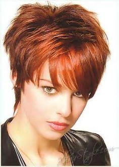 Short Hair Styles For Women Over 40 - Love the color.