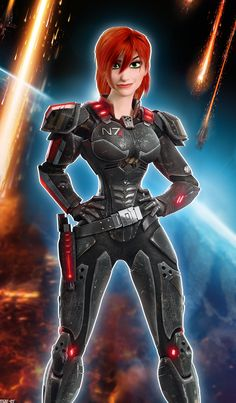 When I saw Wreck It Ralph, I was certain she was based off FemShep.  Sergeant Calhoun as femShep by ~Mar-ER on deviantART