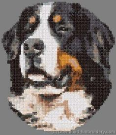 embroidery designs bernese mountain dogs | Bernese Mountain Dog machine embroidery design - Embroidery Designs ...