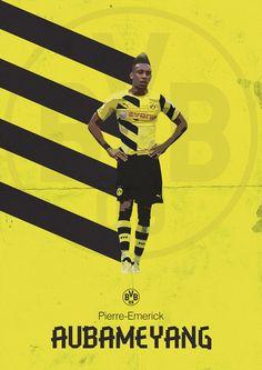 Pierre-Emerick Aubameyang Borussia Dortmund Poster