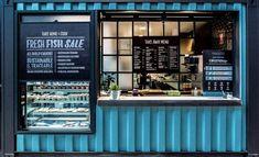 A Rundown of All the Food You Can Eat at Tramsheds Harold Park – Concrete Playground Cafe Shop Design, Kiosk Design, Cafe Interior Design, Store Design, Container Coffee Shop, Container Shop, Cafe Restaurant, Restaurant Design, Food Stall Design