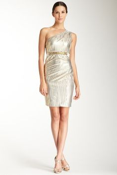 Mark & James by Badgley Mischka One Shoulder Pleat Cocktail Dress by March Must-Haves on @HauteLook