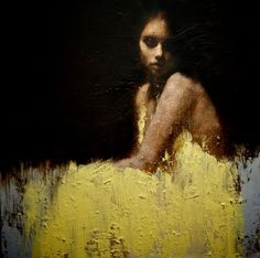 Manchester, UK artist Mark Demsteader, 'Shallow Waters', Oil on canvas painting Mark Demsteader, Figure Painting, Painting & Drawing, Dress Painting, Pour Painting, Painting Process, Art Amour, Art Et Illustration, Classic Paintings