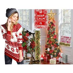 Christmas Is Coming by deluxephotos on Polyvore featuring interior, interiors, interior design, home, home decor, interior decorating, Lanvin, Sixtrees and Boohoo