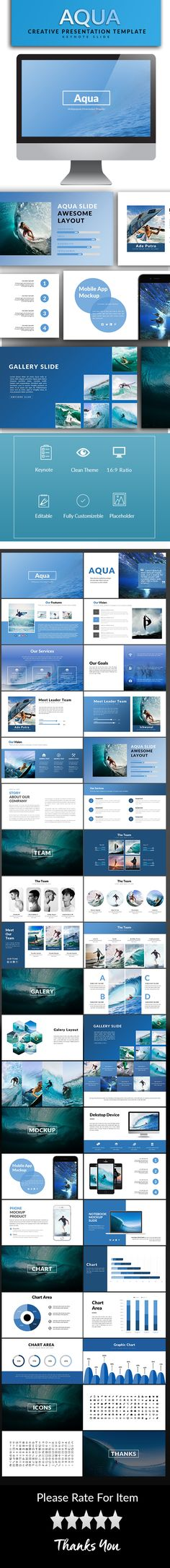 Aqua Keynote Template - Keynote Templates Presentation Templates