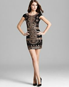 1bad3f7553 Renzo + Kai Gold Embellished Cap Sleeve Dress-just needs to be a little  longer. Semi Formal ...