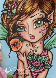 Deborah's shining cards: Crafts and me challenge: Fantasy!