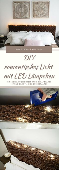 10 DIY string light ideas DIY {Home Decor} Pinterest Lights - schlafzimmer schön gestalten