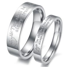 """OPK Silver Arrow """"Two shall be as one. Always protects. Always trust. Always love"""" l Stainless Steel Titanium Wedding Band Anniversary/Engagement/Promise/Couple Ring Best Gift!- Male Ring Size P 1/2,Width 5mm,Diameter 18.2mm, Circumference 57mm by OPK, http://www.amazon.co.uk/dp/B009Z6YIMQ/ref=cm_sw_r_pi_dp_d4Ffsb0T9YCD3"""