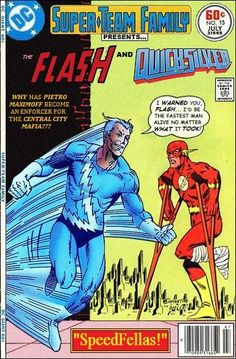 Flash and Quicksilver Super-Team Family: The Lost Issues! Vintage Comic Books, Marvel Comic Books, Vintage Comics, Comic Book Heroes, Comic Books Art, Marvel Dc Comics, Dc Comics Vs Marvel, Marvel And Dc Characters, Marvel And Dc Crossover