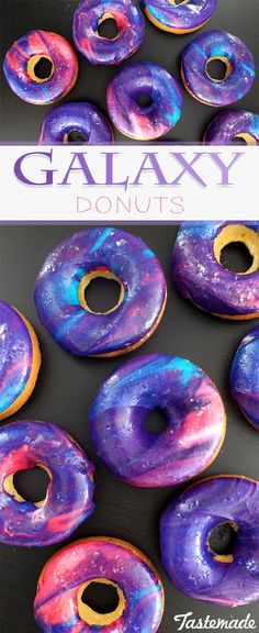 Galaxy donuts are the final frontier. These donuts are as beautiful as the night sky – and they're delicious too! #chocolate_chip_cookies,#chocolate_cake,#chocolate_covered_strawberries,#chocolate-brown-hair,#chocolate_desserts,#chocolate,#chocolate_(shared)#
