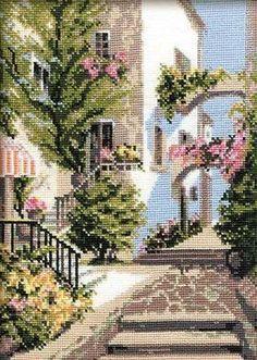 Beaded Cross Stitch, Cross Stitch Kits, Cross Stitch Patterns, Needlepoint Patterns, Needlepoint Canvases, Italian Courtyard, Punch Needle Kits, Mill Hill Beads, Bead Kits
