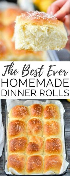 This Homemade Dinner Rolls recipe turns out perfect every time. Dense yet fluffy, slightly sweet and salty, and irresistibly buttery! The only homemade roll recipe you will ever need! #fromscratch #dinnerrolls #homemadebread #homemade #rolls #thanksgiving #christmas #bread