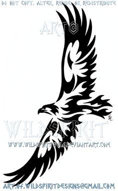 Soaring Eagle Tribal Design by WildSpiritWolf on DeviantArt
