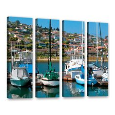 Point Loma, San Diego by George Zucconi 4 Piece Gallery-Wrapped Canvas Set
