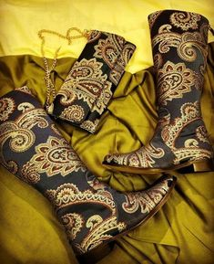 Cowboy Boots, Heeled Boots, Booty, Floral, Shoes, Fashion, Embroidery, High Heel Boots, Moda