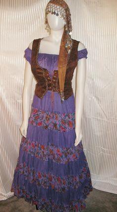 Renaissance Purple Gypsy Fortune Teller Costume. $39.99, via Etsy.