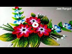 Simple and easy rangoli using spoon. Rangoli Designs With Dots, Rangoli Designs Images, Beautiful Rangoli Designs, Diwali Rangoli, Simple Rangoli, Diwali Decorations, Wedding Decorations, Diy Home Crafts, Arts And Crafts