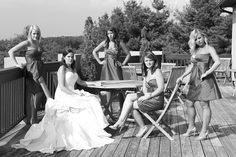 This looks like a group of you don't want to mess with! Bridal Parties, Party Pictures, Bridesmaids, Group, Wedding Dresses, Unique, Fashion, Bride Dresses, Moda