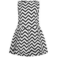 Guess Girls Black & White Zigzag Dress