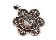 Brazilian Blossom Necklace - Coins Charms- Coins Necklace -Gift for Her