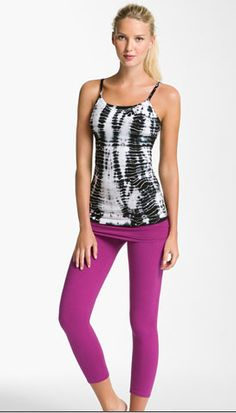 Hard Tail top and leggings via Nordstrom, This outfit would be so.. great for pilates, or yoga class