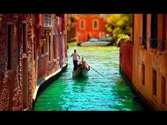 Venice. Step by step cityscape oil painting tutorial. Landscape acrylic painting with palette knife - YouTube