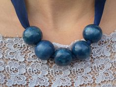 Need a quick pop of color: DIY necklace in minutes for a few dollars. Do BIG beads or small for a few dollars.
