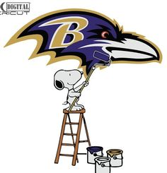 American Football Players, Flag Football, Baltimore Ravens Logo, Raven Logo, Snoopy Love, Cute Poster, Photoshop Illustrator, Cricut Vinyl, Coloring Books