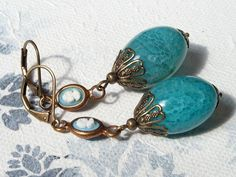 """Ohrhänger - Opulente """"Marie Antoinette"""" Gemmen-Ohrringe - ein Designerstück von Gentle-Breeze bei DaWanda"""