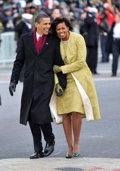 "President Barack and Michelle Obama inauguration ""walk."""