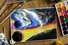 Космос акварель