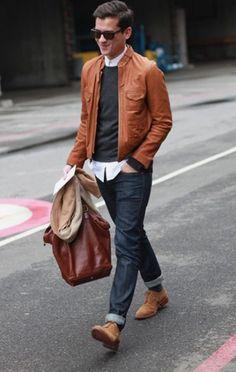 look masculino jaqueta sobreposições