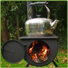 The Frontier stove! A portable log burning stove that can even be fitted in canvas tents and sheds!