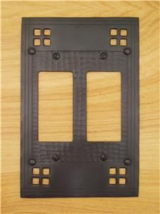 Mission Style Two Gang GFI Light Switch Cover Plate | eBay