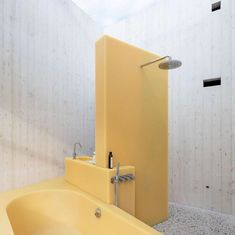 As part of our Sink Envy board, inspired by method's sink side Glass for Good bottle, this is one of our favourite stylish sinks. This sink envy is by by Sabine Marcelis. Amazing Architecture, Interior Architecture, Interior Design, Design Museum London, Bathroom Ensembles, Bathroom Goals, Yellow Bathrooms, Water Element, Spots