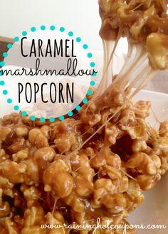 Caramel Marshmallow Popcorn by Raining Hot Coupons