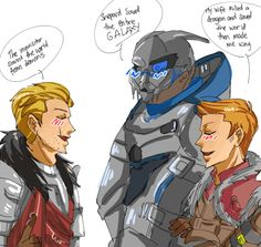 Cullen, Garrus and Alistair