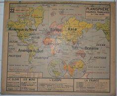 Carte Vidal Lablache N°22 Planisphère Colonies Françaises - Jélidée
