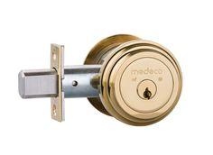 5 Door Locks That Will Keep You Safe and 5 That Won't-  Medeco Maxum 11*603 Deadbolts that resist picking, drilling, and kicking