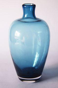 Vintage Dutch Blue Serica Glass Vase Floris Meydam by 1001vintage