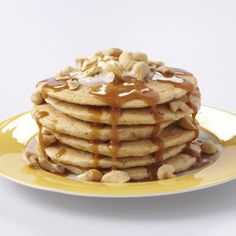 Sweet Potato Pancakes with Caramel Sauce Recipe from Taste of Home -- shared by Sheryl Little of Sherwood, Arkansas