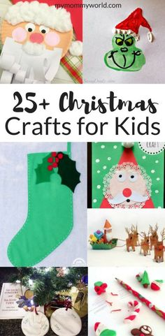 The Ultimate Pinterest Party Week 175 | Get your kids into the holiday spirit with these easy Christmas Crafts for Kids! There are easy Christmas Crafts for Toddlers, as well as more advanced Christmas Crafts for kids to give as gifts. Find something to make with your kids every day of December!